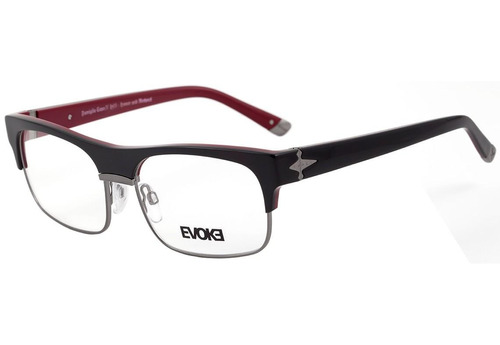 Evoke Capo Iv - Óculos De Grau H01 Black Shine Temple Purple c74aa25806