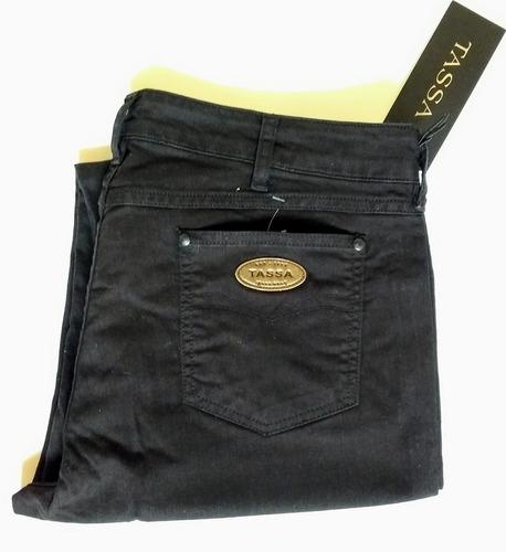 189e7a76c Calça Jeans Feminina, Tassa, Cut Stretch Preta, Tamanho 48 - R$ 129 ...