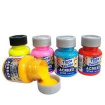Tinta Para Tecido Acrilex 37ml C/ 24 Unidades - Aproveite