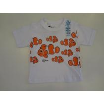 Camiseta Cara De Criança Peixe Palhaço Com Protetor Solar