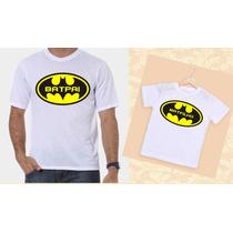 Kit Camisetas Tal Pai, Tal Filho Batman
