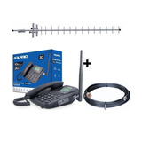 Kit Telefonia Rural Aquario Dual Chip Ca-42s 3g Antena 15dbi