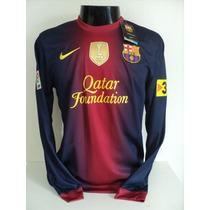 Busca Camisa Barcelona infantil mangá longa com os melhores preços ... aecbd8ce21db7