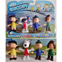 Kit Miniaturas 4 Bonecos Snoopy Personagens Articulado Filme