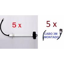 Kit 5 Dipolos Da Antena Mm-2420 Aquário + 5 Cabos Pig De 3m