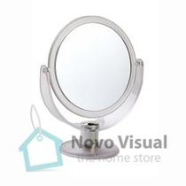 Espelho De Mesa Maquiagem Em Acrílico Com Aumento C/ Zoom 3