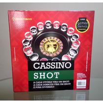 Roleta Cassino Game Drink Jogo C/ Copos De Vidro 30cm G04494