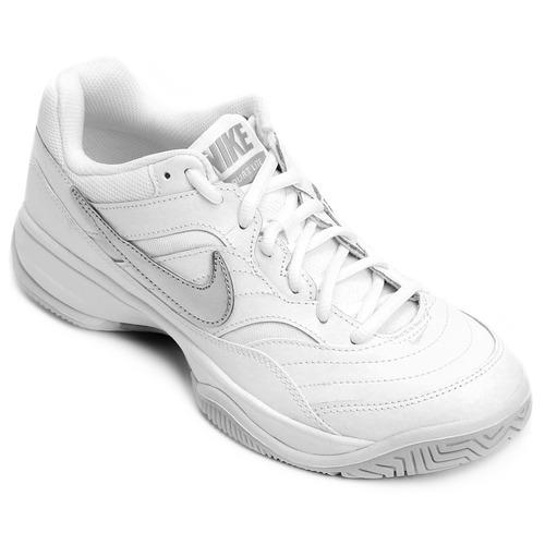 3b42dd76cd Tênis Nike Wmns Nike Court Lite Feminino - Branco E Prata