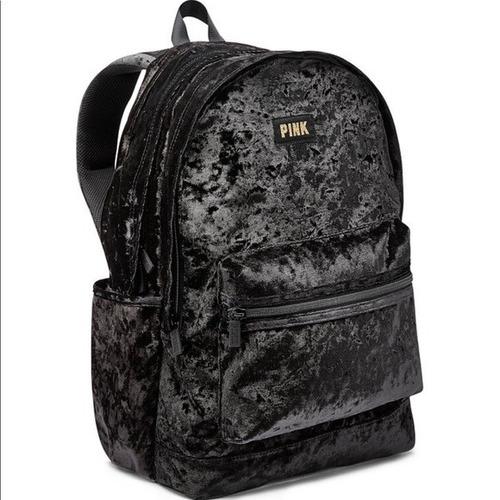 Bolsa Mochila Victoria´s Secret Pink Velvet Campus Backpack