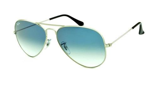 a3f788bc9 Ray-ban Aviador Rb3025 Prata Com Azul Degrade Frete Grátis à venda ...