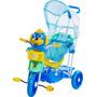 Triciclo Infantil 3 X 1 C/ Gangorra Capota Música Luzes 3x1