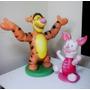 Escultura Em Isopor Fibrado Decoração Pooh Tigrão E Leitão