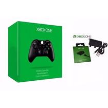 Controle Xbox One Sem Fio + Bateria E Cabo Original Kit Knup