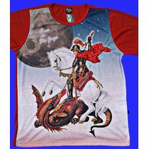 Camisa De São Jorge Vermelha Da Lua