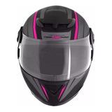 Capacete Para Moto Integral Pro Tork Evolution G6 Pro Preto, Rosa Tamanho 58