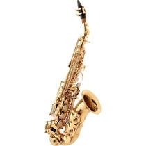 Saxofone Soprano Curvo Em Sib Laqueado Sp 508 Eagle