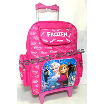 Mochila Escolar Infaltil Frozen Com Rodinhas Anna E Elsa