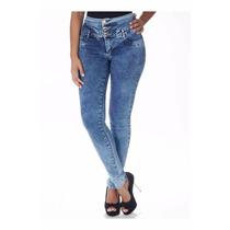 Sawary Calça Jeans Cintura Alta Modela Bumbum