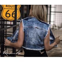 Colete Feminino Jeans Color Revanche