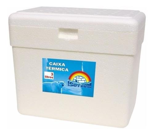 Kit Pct C/ 30 Unids De Caixa Térmica Isopor 3 Litros S/alça