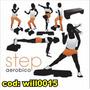 Adesivo De Parede Ginástica Exercício Step Aeróbico Will0015