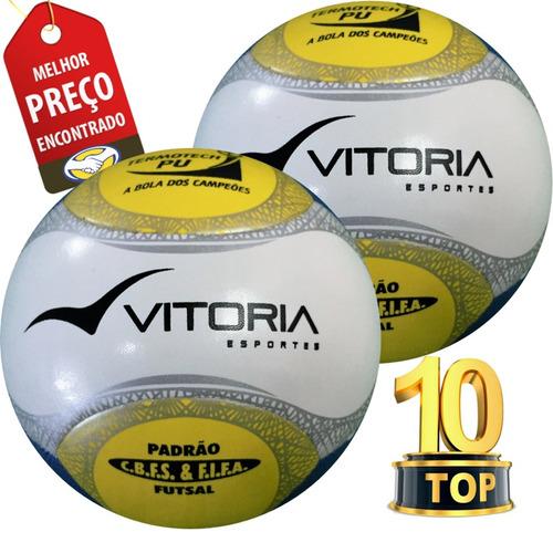 Bola Futsal Vitória Oficial Termotech Pu 6 Gomos 2 Unidades - R  169 ... f9fbbf1401007