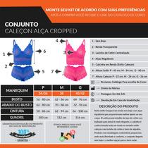9566f654d Kit 8 Conjuntos Cropped Renda Sem Bojo Sem Aro Atacado Sexy à venda ...
