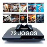 Playstation 3 Ps3 Slim + 72 Jogos + Frete Grátis + Sem Juros