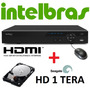 Dvr Stand Alone 16 Canais Vd16 480c Hdmi Intelbras + Hd 1 Tb