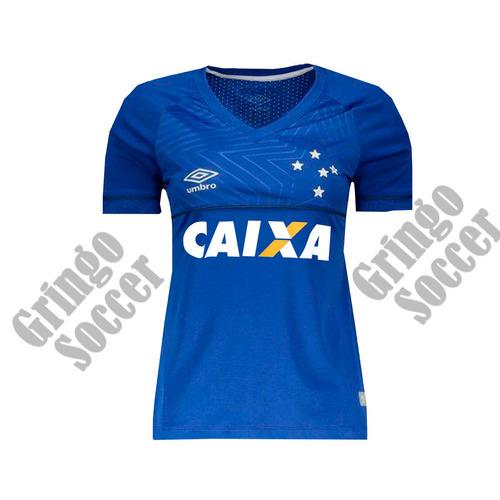 82636463f8bda Nova Camisa Cruzeiro Feminina Campeão 2018 Dryfit Bordada