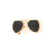 Pingente Óculos Cravejado 56 Zircônias Ouro Rommanel