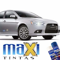 Tinta Spray Automotiva Mitsubishi Prata Cool Silve + Verniz