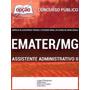 Apostila Para Assistente Administrativo Ii Emater/mg 2016