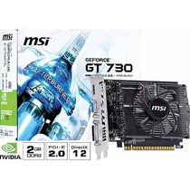 Placa De Vídeo Geforce Gt 730 2gb Ddr3 128 Bits Hdmi Dvi Msi
