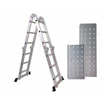 Escada 4x3 12 Degraus Multifuncional Articulada Plataforma
