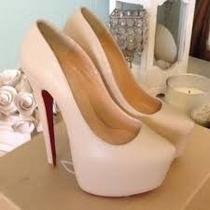Sapatos Femininos Scarpin Meia Pata Sola Vermelha No Brasil