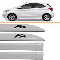 Friso Ford Ka Sedan Branco Artico + Calha Chuva 14 Até 15