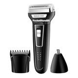 Máquina Barbear Shaver Kemei 3 Em 1 Nariz Barba Pelos Corpo