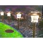 Kit 4 Luminárias De Chão Energia Solar Para Decoração Jardim