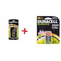Kit Duracell Carregador + 4 Pilhas Recarregáveis