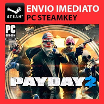 Payday 2 + 9 Dlcs Grátis - Steam Key Pc Original