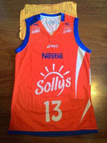 Sheilla 13 Osasco Nestle Sollys Volei Brasil Asics Camisa P. R  85 f2adee28a37d5