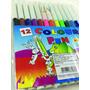 Canetinha Com 12 Cores/kit 06 / Envio Imediato*