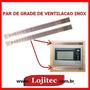 Grade Inox Para Ventilacao De Forno De Embutir ( Par )
