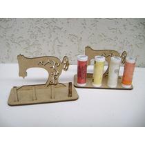 10 Mini Maquina Costura Porta Linhas Mdf Laser Lembrancinha