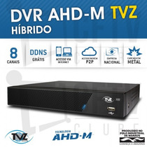 Dvr Stand Alone Tecvoz Tvz 8 Canais Ahd-m Híbrido 3 Em 1