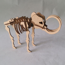 Quebra Cabeça 3d - Coleção Animais - Mamute Mdf
