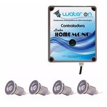 Kit Iluminação Piscina 4 Refletores 12w Led Branco + Fonte