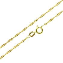 Corrente Colar Cordão Singapura Feminina 45cm Em Ouro18k-750