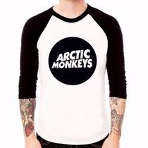 Camiseta Raglan - Arctic Monkeys - Unissex
